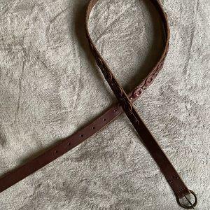 Lucky Brand dark brown leather belt